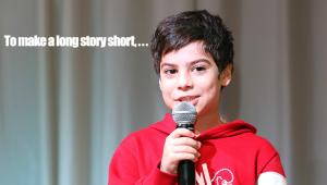 Make a long story short 手短に説明します。