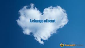 第75回 Change of heart の意味と例文