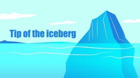 Tip of the iceberg  氷山の一角 イディオムの使い方を例文で確認しましょう