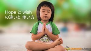 Hope と wish の違いと使い方