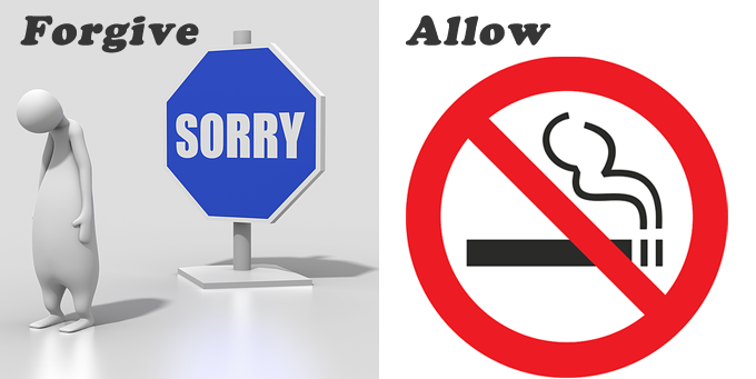 forgiveとallow意味の違い